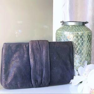 🔥Mauve-ish Gianni Bini Clutch Leather Purse🔥👌🏽